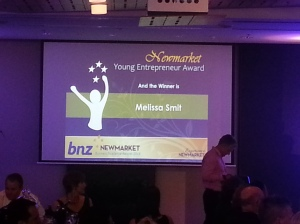 Melissa Wins Young Entrepeneur of the Year Award